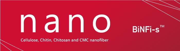 Nano BiNFi-s Cellulos, Chitin, Chitosan and CMC nanofiber