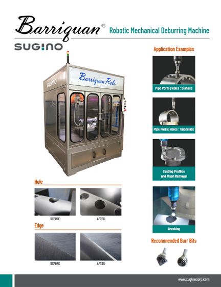 Sugino Barriquan Robotic Mechanical Deburring Machine Cell