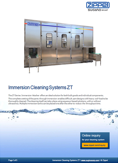 Sugino ZT Immersion Cleaning Systems Z-Series