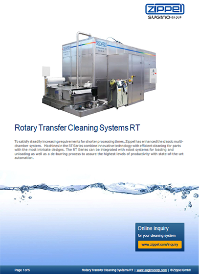 Sugino Z-Series Rotary Transfer Cleaning Systems RT