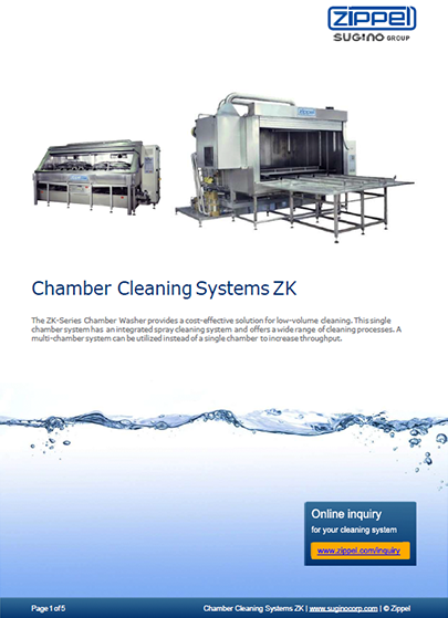 Sugino Z-Series Chamber Cleaning Systems ZK