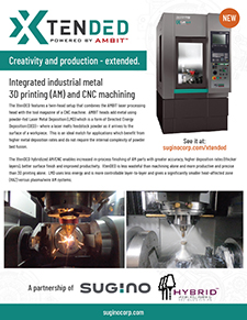 Sugino XtenDED brochure additive and cnc